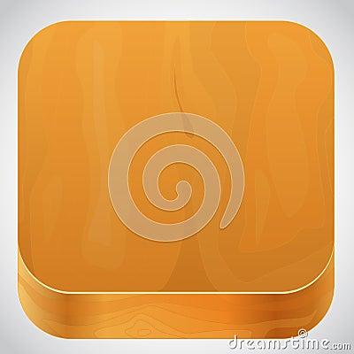 Wooden base icon vector