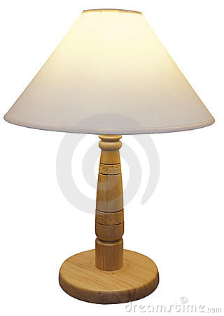 Wooden Based Lamp with  shade