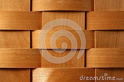Wooden basket weave background