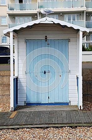 Wooden beach hut, Bexhill