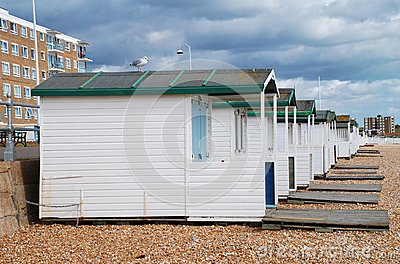 Wooden beach huts, Bexhill