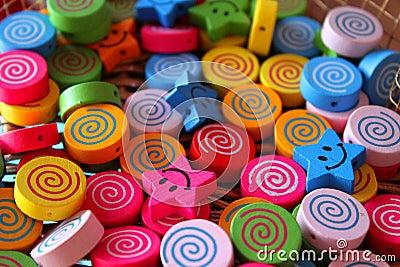 Wooden beads for children
