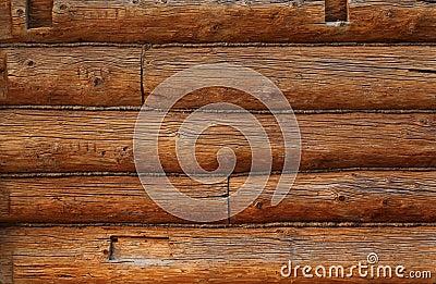 Wooden beams wall