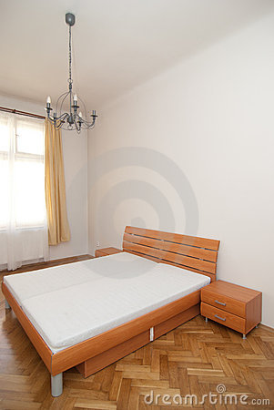 Free Wooden Bedroom Royalty Free Stock Image - 22055296