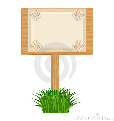 Wooden billboard with blank sheet