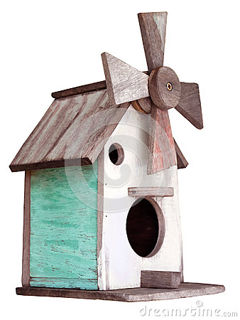 Free Wooden Bird House Royalty Free Stock Images - 47300819