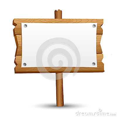 Free Wooden Blank Sign Stock Photo - 42724920