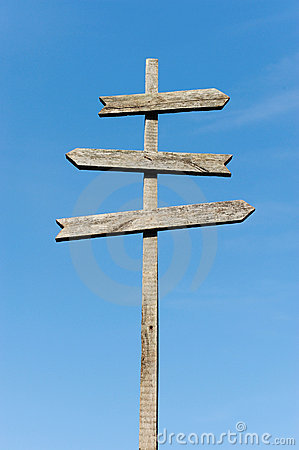 Free Wooden Blank Sign Post Stock Image - 21009621