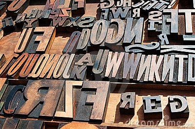 metal printing press letters stock photo image 50458239