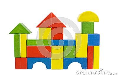 Wooden blocks castle