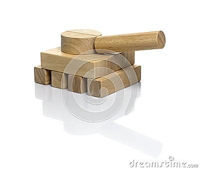 Wooden blocks / military tank