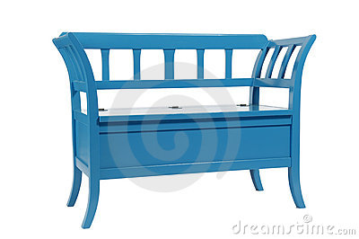 Wooden blue couch