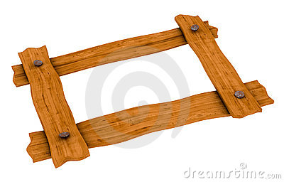 Wooden board frame