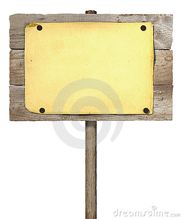 Wooden board sign