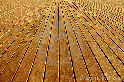 Wooden boards floor