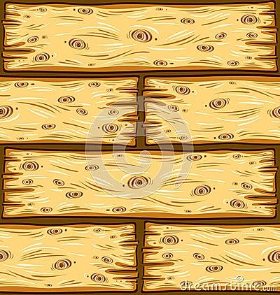 Wooden boards seamless pattern.