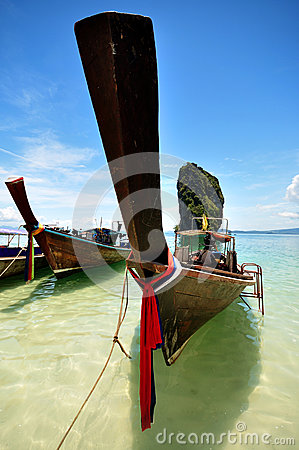 Wooden boat.