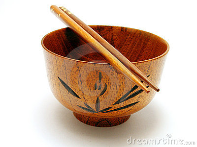 Wooden bowl and chopsticks 2