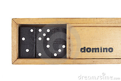 Wooden box domino