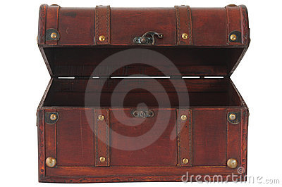 Wooden box. Isolated
