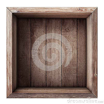 Free Wooden Box Or Crate Top View Isolated Royalty Free Stock Photo - 39922275