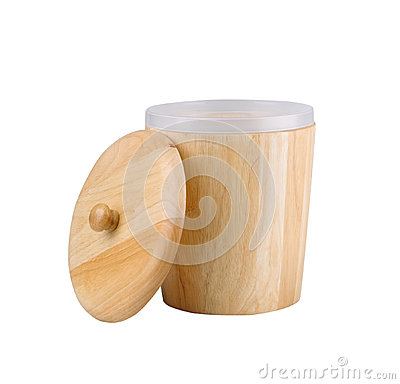 Wooden box or pot