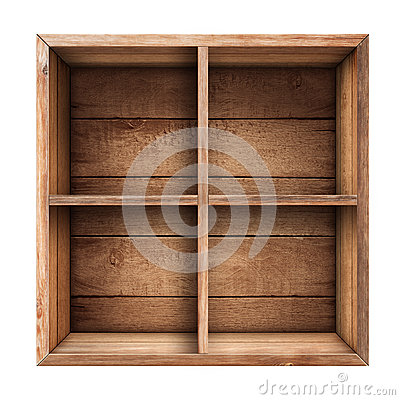 Free Wooden Box, Shelf Or Crate Isolated Royalty Free Stock Photography - 39944187