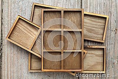 Wooden box tray