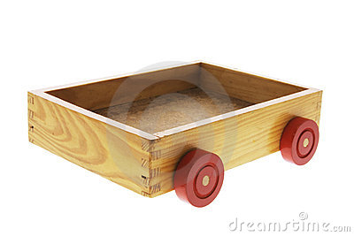 Wooden Box with Wheels