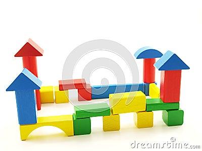 Wooden brick castle