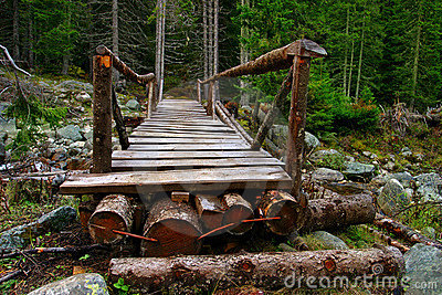 A wooden bridge