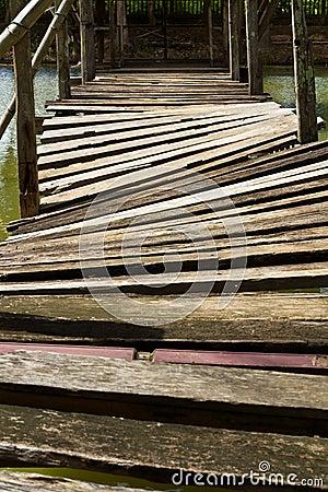 Free Wooden Bridge Across Stock Photo - 31781240
