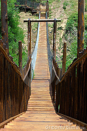 Free Wooden Bridge In Park Royalty Free Stock Photography - 1967417
