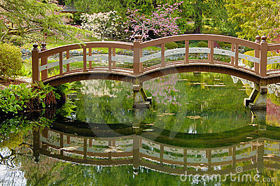 japanese wooden garden bridge - Japanese Wooden Garden Bridge