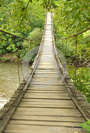 Free Wooden Bridge Over A River Royalty Free Stock Photo - 44713315