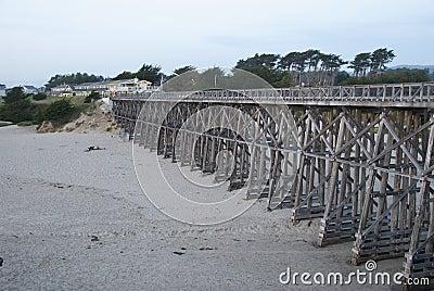 Wooden Bridge over Beach
