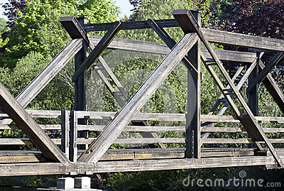 Wooden bridge - RAW format