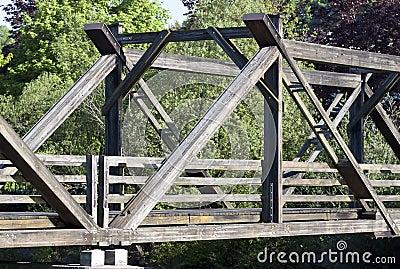 Wooden bridge - RAW format