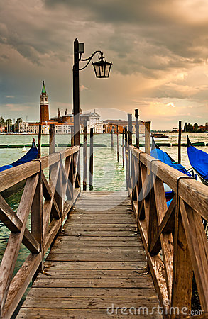 Wooden Bridge in Venice