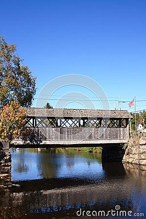 Wooden bridge in Vermont