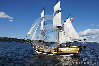 The wooden brig, Lady Washington Editorial Stock Photo