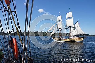 The wooden brig, Lady Washington Editorial Image
