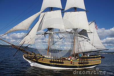 The wooden brig, Lady Washington Editorial Stock Image
