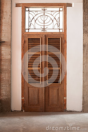 Wooden Brown Vintage Door