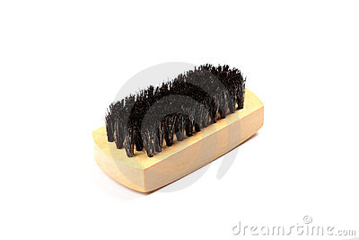 Wooden brush for cleaning.