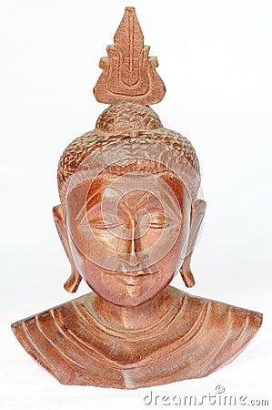 Wooden buddha sculpture