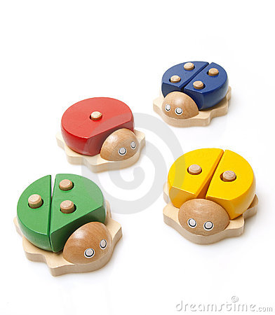 Free Wooden Bugs Toys Royalty Free Stock Image - 23130826