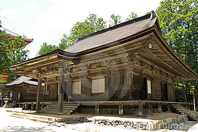 Wooden building associated with temple on Kōya