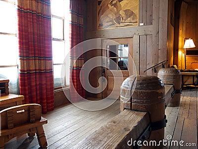 Wooden building interior