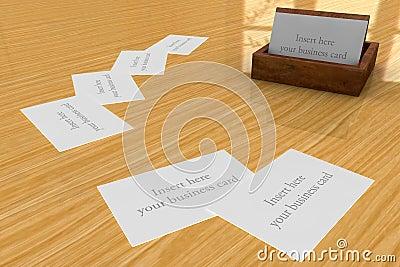 Wooden Business cards Holder